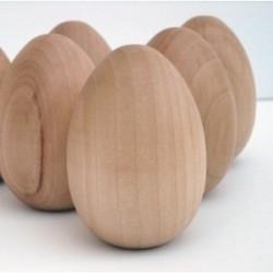 Set 30 oua lemn natur pentru pictat