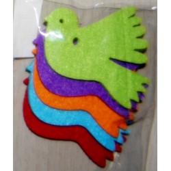 Set 5 decoratiuni fetru porumbei