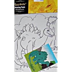 Dinozaur Panza imprimata pentru pictura + culori