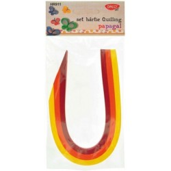 Hartie quilling Papagal 30*0,5 cm, 200/set Daco Art HR911