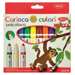 Carioca 10 culori Maxi unicolora Daco Art
