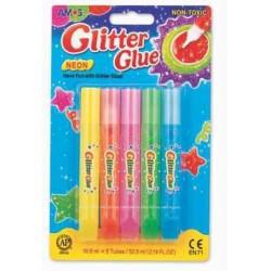 Pasta adeziva decorativa Glitter Glue Neon AMOS