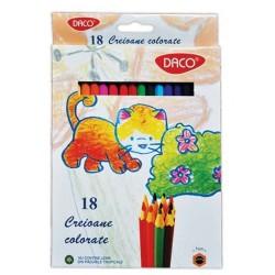 Creioane colorate 18 culori Daco