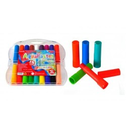 Creioane colorate 18 culori PASTEL ACUARELA AQUAPASTEL DACO