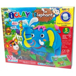 Set creativ  iClay Amos Elephant + Accesorii + sunet