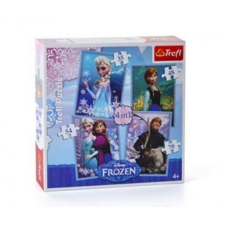 Joc puzzle 4 in 1 Frozen Trefl