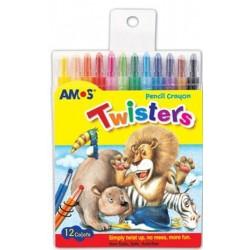 Creioane cerate AMOS Twisters 12 culori