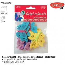 """""""Aripi colorate"""" Fluturasi 3D pasla autoadeziva - Accesorii Craft Daco Art AD122"""