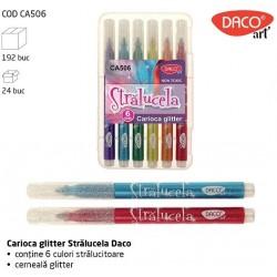STRALUCELA Carioca glitter 6 culori Daco CA506
