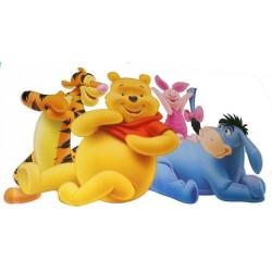 Sticker perete cu Winnie the Pooh si prietenii sai