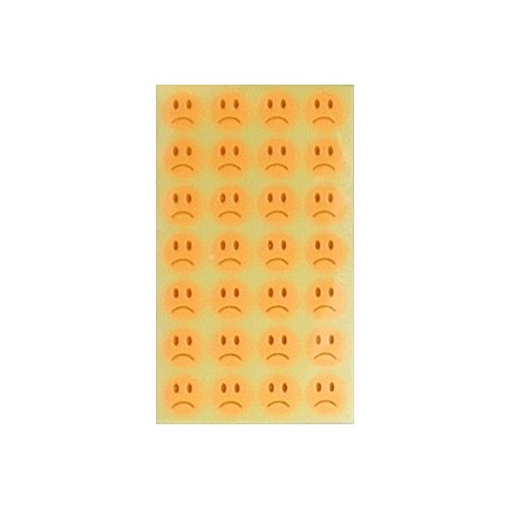 Set 10 Folii Cu Stickere Fete Triste