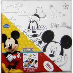 Panza imprimata pentru pictura Mickey, Donald si Goofy + culori acrilice