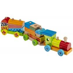 Trenulet din lemn colorat EICHHORN