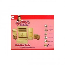 Mobilier baie de lemn pentru papusi