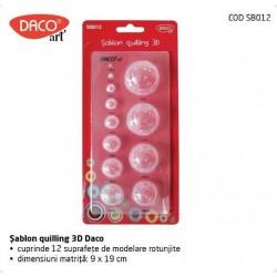 Sablon 3D pentru quilling