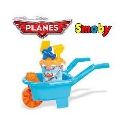 Roaba cu Set de jucarii pentru Nisip Planes Smoby