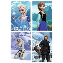 Joc mini puzzle Frozen 54 piese ,Trefl