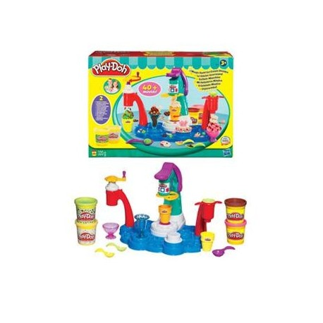 Joc creativ cu Plastilina Play Doh  Magic Swirl Ice Cream Shoppe