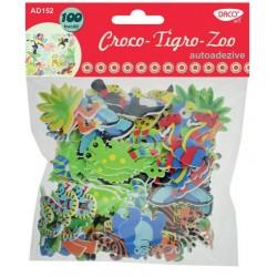 Croco-Tigro-Zoo - spumă autoadeziva DACO Art AD152