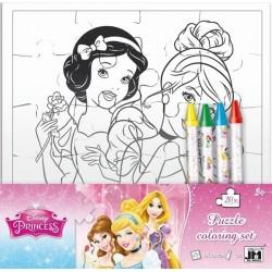Joc creativ Coloreaza Puzzle Disney Princess