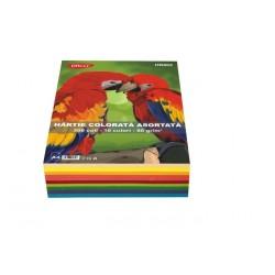 Hartie colorata asortata 500 coli/top, 10 culori 80 g/mp