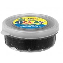 Plastilina iClay negru 18g/cutie Amos