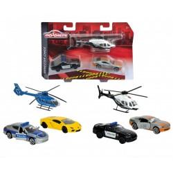 Majorette  Set Gangster Chase  masina de Politie elicopter de politie