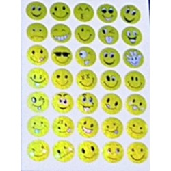 Set 10 folii cu Stickere Smiley diverse modele