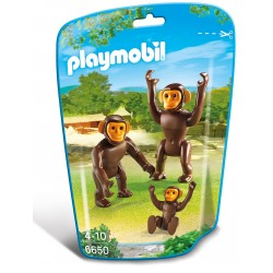 Familie de cimpanzei  Playmobil City Life Zoo PM6650