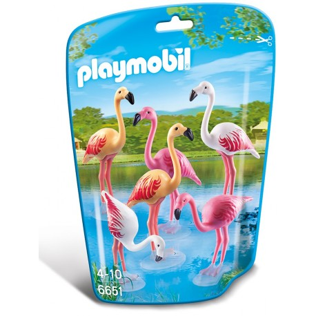 Familie de flamingo Playmobil City Life Zoo PM6651