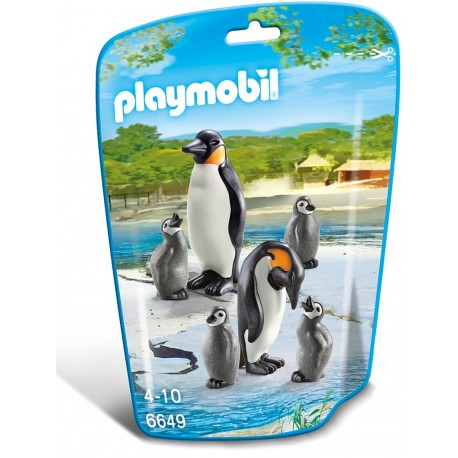 Familie de pinguini Playmobil City Life Zoo PM6649
