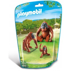 Familie de urangutani Playmobil City Life Zoo PM6648