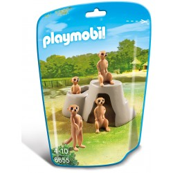 Familie de manguste Playmobil City Life Zoo PM6655
