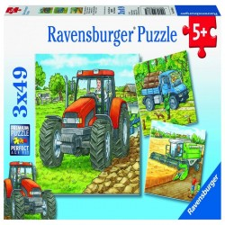 PUZZLE UTILAJE AGRICOLE, 3x49 PIESE