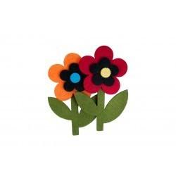 Forme decorative Floricele Fetru 2 buc