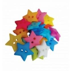 Accesorii creatie plastic nasturi stelute 20mm