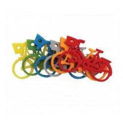 Set 6 decoratiuni fetru bicicleta