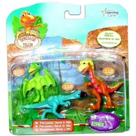 Set 3 figurine T-REX Express (Derek, Ollie si Domnul Pteranodon) TOMY