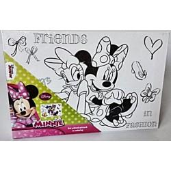 Panza imprimata pentru pictura Minnie Mouse + culori acrilice