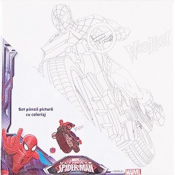 Panza pictura Spiderman cu acuarele