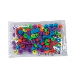 Accesorii creatie  margele alfabet diverse culori 100 bucati/set