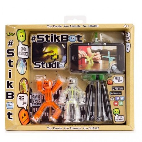 Set StikBot Studio cu trepied