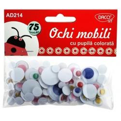 Accesorii craft - AD214 Ochi cu pupila colorata DACO