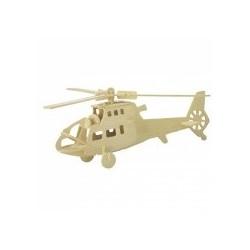 Puzzle 3D din lemn - elicopter