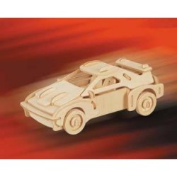 Joc puzzle lemn 3D masina Ferrari
