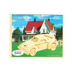 Puzzle 3D din lemn - masina Ferrari