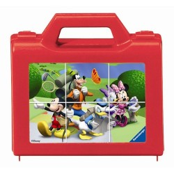 Cuburi Puzzle Clubul lui Mickey Mouse, 6 piese, Ravensburger