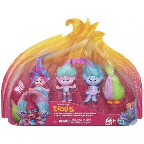 Set Figurine DreamWorks Trolls Poppy Fashion Frenzy