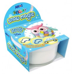 Plastilina Iclay AMOS Snow Magic 70g/set alba