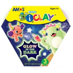 Plastilina iClay Glow in the Dark 3 culori Amos